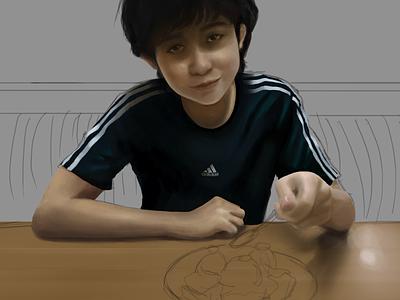 WIP: Sioty 2017 wip boy digital painting