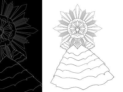 Teaser line art - Sinulog Concept Costume art design fashion costume concept sinulog line