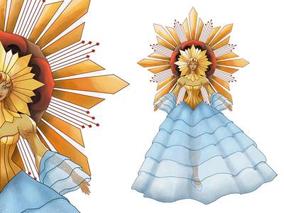 Sinulog Festival Queen Costume Design festival queen art fashion design costume concept sinulog