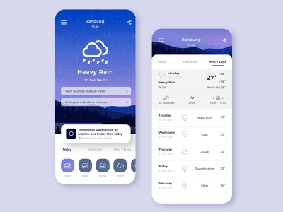 Weather Forecast App mobile design mobile app ui design uidesign uiux mobile ui weather forecast weather app weather app ui