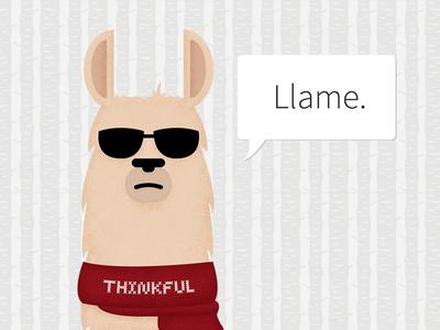 Thinkful's mascot llama thinkful animal illustration mascot
