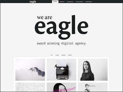 eagle typography web design theme wordpress portfolio creative freelancer agency fira mono minion pro cronos pro typekit