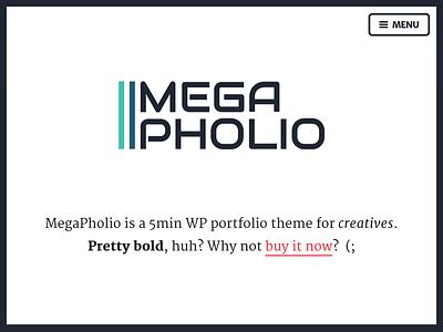 MegaPholio colorful typography web design theme wordpress portfolio creative freelancer agency bolg flat merriweather