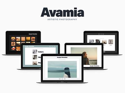 Avamia — Artistic Photography Theme creative portfolio photography typekit aktiv grotesk modern minimal clean art themeforest wordpress