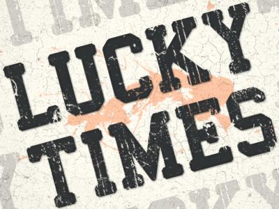 Lucky Times WordPress Theme logo typography vintage grunge wordpress theme