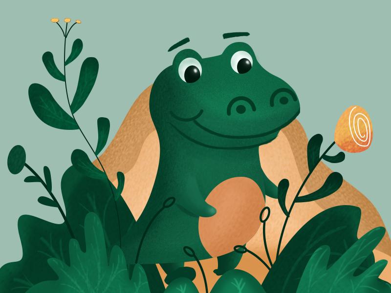 small crocodile design illustration