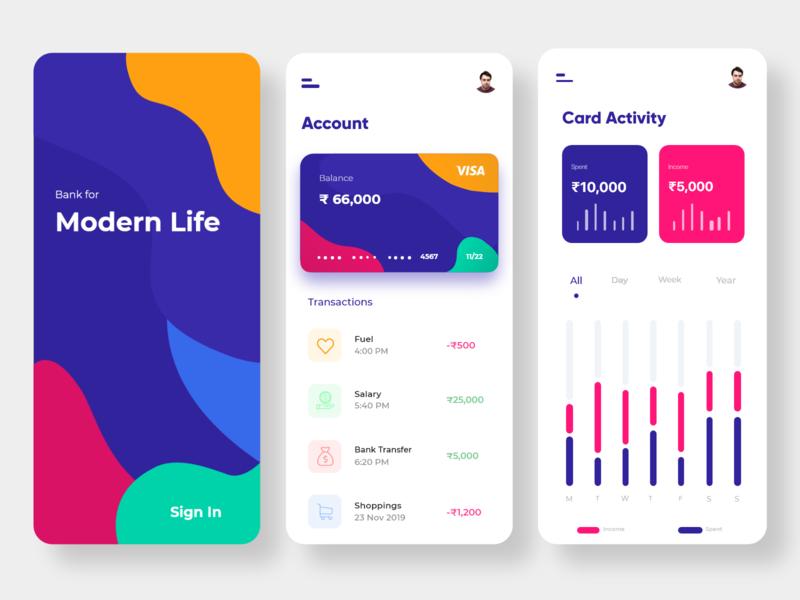 Card transaction UI