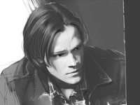 B/W Sam Winchester Comic Cover Draft (update)