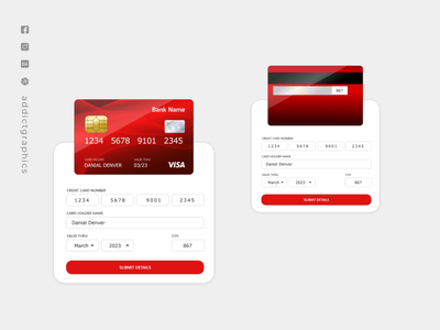 Credit Card UX Interaction ui interaction ux interaction interaction ux design uiux typography user interface graphicdesign branding ux user experience design addict graphics ui addictgraphics