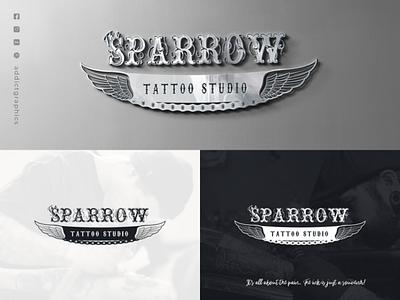 Logo Design for Tattoo Studio logotype logodesign addict graphics graphicdesign illustration icon vector logo typography branding design addictgraphics