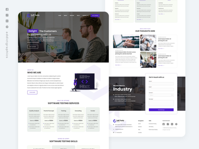 Software Company - Landing Page Exploration user interface user interface design websites website builder webdesign website concept website design landing page ui landingpage flat ui web ux user experience design branding addictgraphics
