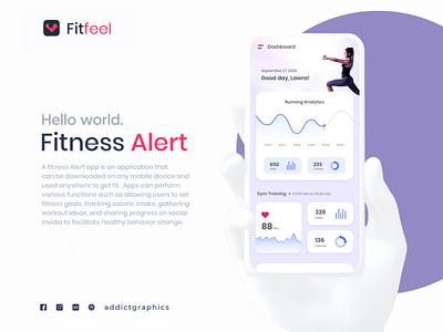 Fitness Alert Application mobile app design mobile ui fitness app ui ux graphicdesign ux web app user interface design addictgraphics logo user experience ui