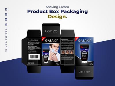 Shaving Cream - Product Packaging Design logo design illustration addict graphics addictgraphics product package packaging design branding graphic design