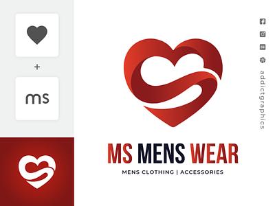 Logo For Men's Clothing ux illustration logo ui typography addict graphics branding design addictgraphics