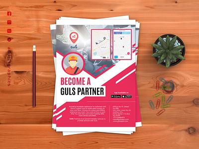 Flyer Design for GulsApp flyer flyer design graphic design printing design design branding vector logo addict graphics addictgraphics