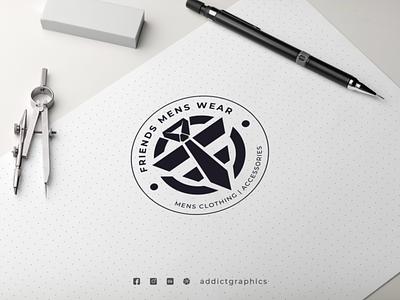 Logo for Men's Clothing graphic design illustration typography vector design logo branding addict graphics addictgraphics