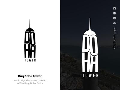 Logo Concept for Burj Doha Tower illustration vector graphic design design addictgraphics branding typography logo addict graphics
