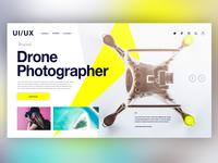 🚁Drone Photographer|Daily Ui Design