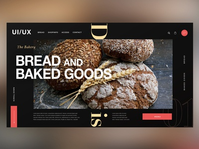 🍞 Bread & Baked Goods Shop|Daily Ui Design