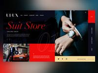 👔 Suit Store |Daily Ui Design