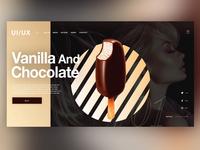 🍦Vanilla And Chocolate |Daily Ui Design