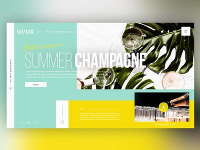 🍾Champagne Campaign |Daily Ui Design