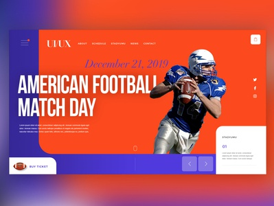 🏈American Football |Daily Ui Design