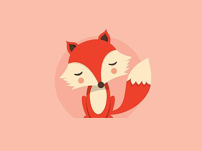 Little Fox orange doodle design sticker fox illustration