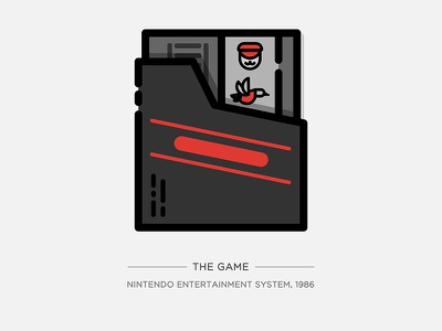 Nintendo Illustration Series - The Game super mario video game vintage series nintendo console game icon doodle drawing illustration vector