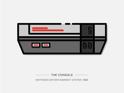 Nintendo Illustration Series - The Console console game nintendo nes illustration vector drawing icon series video game