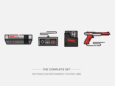Nintendo Illustration Series gun vector controller drawing illustration video game game super mario console game console nes nintendo