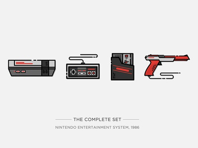 Nintendo Illustration Series gun vector controller drawing illustration video game game super mario console game console nes nintendo