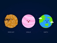 Planet Series - Mercury, Venus, Earth