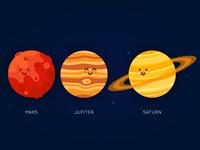 Planet Series - Mars, Jupiter, Saturn