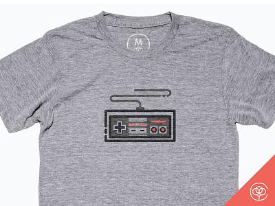 The Controller on Cotton Bureau retro illustration shirt design vector nostalgia video game console gaming gamer game nintendo controller