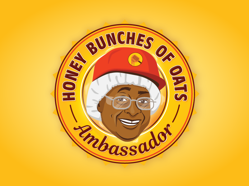 Honey Bunches of Oats Lady branding cereal vector logo portrait illustration portrait illustration