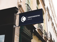 Sign for Óptica Continental Brand
