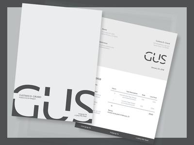 GUS Invoice Design