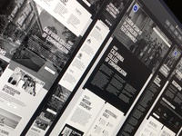Wireframe - California College of Communication website