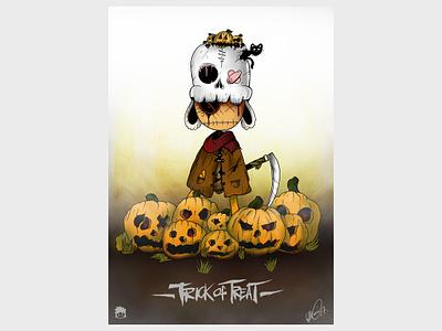 Trick Or Treat design ink art digital photoshop illustration drawing