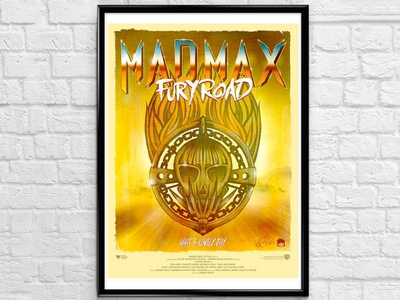 Mad Max Fury Road movie poster design logo madmax movieposter ink art vector photoshop illustration drawing