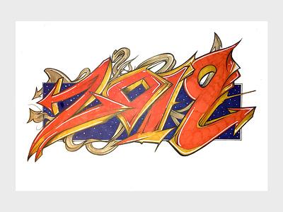 2019 logo typography illustration design ink art drawing
