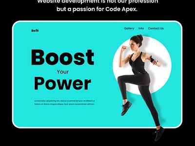 Website for Gym webdesign website vector branding illustrator photoshop