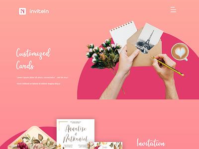 InviteIn - Web page illustrator vector ux ui photoshop