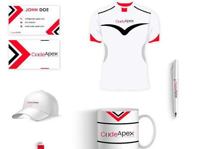Codeapex illstrator photoshop branding concept branding