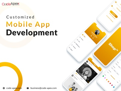 Mobile app development poster ux ui design app brand identity illustrator photoshop