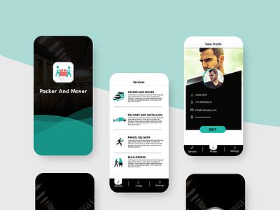 Packer and mover app design mobile uiux mobile ui app design app ux ui brand illustrator branding photoshop