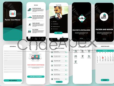 On Demand Packer and Mover App typography mobile app design mobile ui app design ui ux brand identity app illustrator photoshop