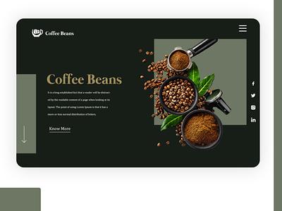 Coffee Shop Website website illustration brand identity brand ux ui branding illustrator photoshop
