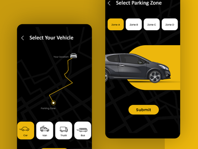 Car Parking Mobile App typography vector logo mobile ui app ui ux branding illustrator photoshop
